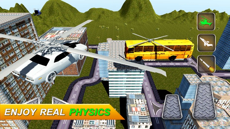 Flying Sports Car Driver: Jet Racing Simulator