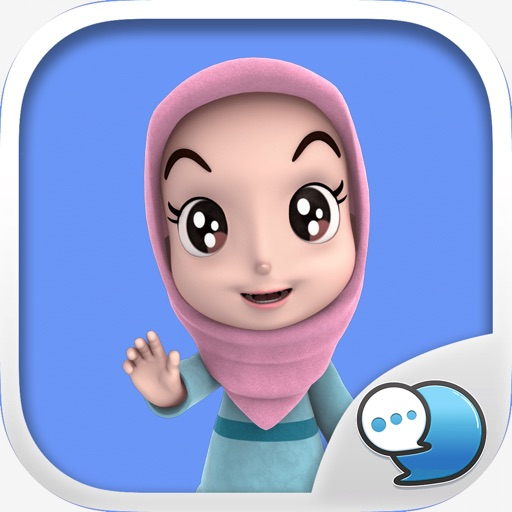 Nada1 Muslim hijab Eng Stickers for iMessage