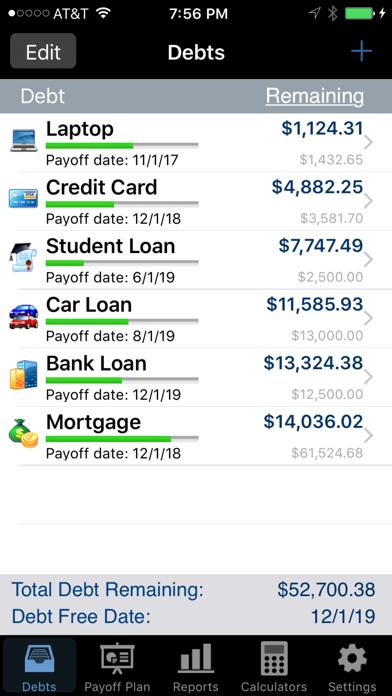 Debt Payoff Pro screenshot one