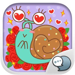 MOOMOO the lovely snail Stickers for iMessage