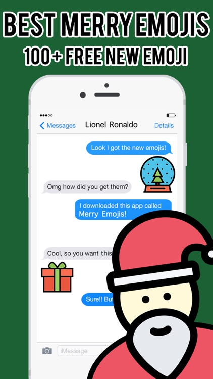 Merry Emojis - Christmas Emoji Stickers Messenger