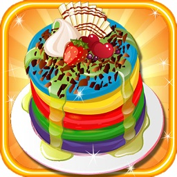 Rainbow Pancakes Cake free Cooking games for girls