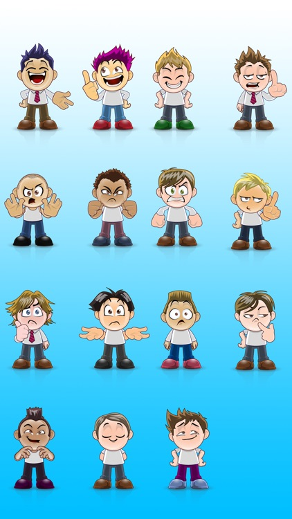Boys SP emoji - iMessage Sticker Packs screenshot-3
