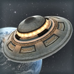 UFO Space Ship in the Moon 3D