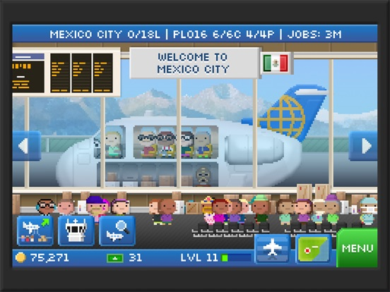 Pocket Planes - Airline Management на iPad