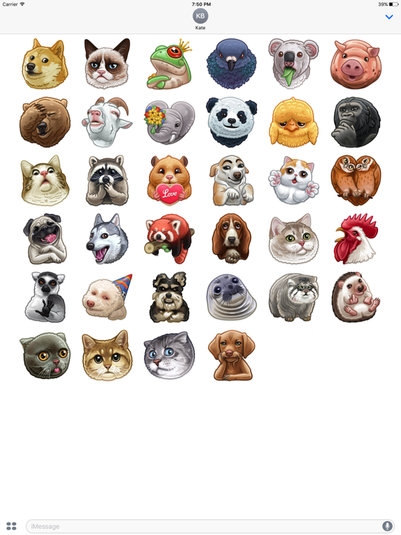 Animal-Stickers screenshot 5