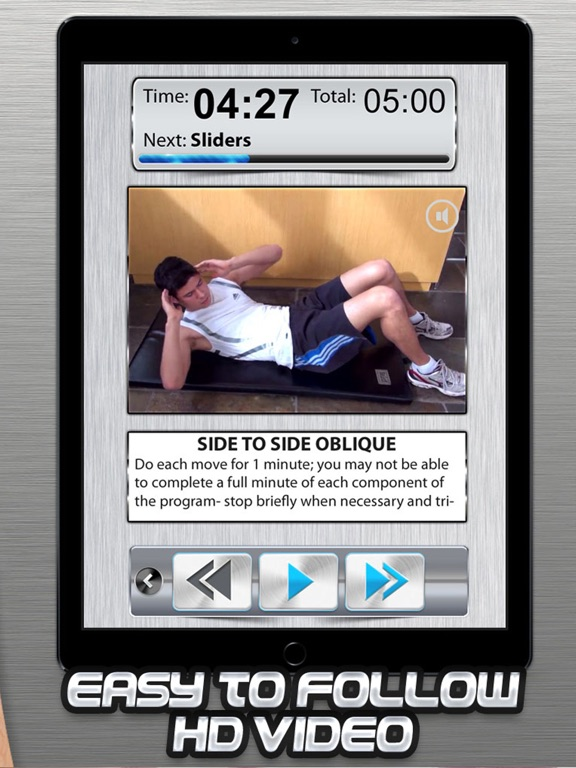 Ab Workout Trainer HD Sit-Up Crunch Exercise-ipad-2
