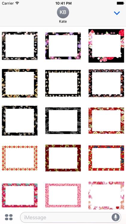 Japanese pattern frame sticker