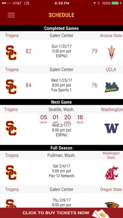 USC Trojans Gameday App screenshot four