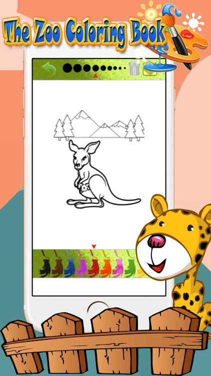 Zoo Animal Paint : coloring pages for girls & boys screenshot-4