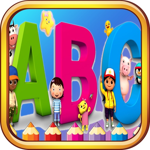 Abc Animals Coloring Book - Learn To Draw