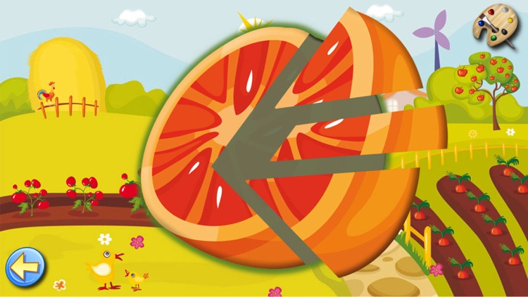 Learning games kids & Toddlers: Fruits Shape Free screenshot-3