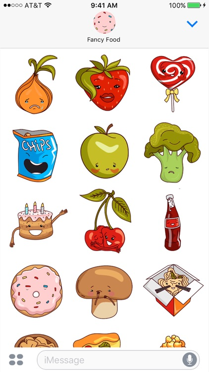 Fancy Food - Animated Stickers Fruits & Vegetables