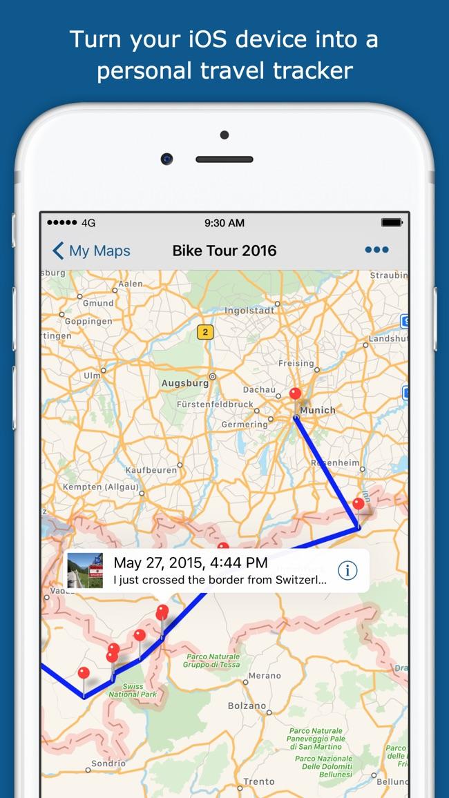 TrackMyTour - Travel Sharing Screenshot