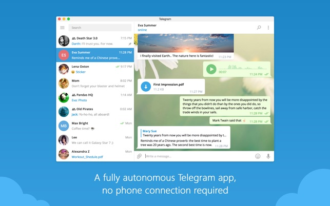 Telegram Desktop on the Mac App Store