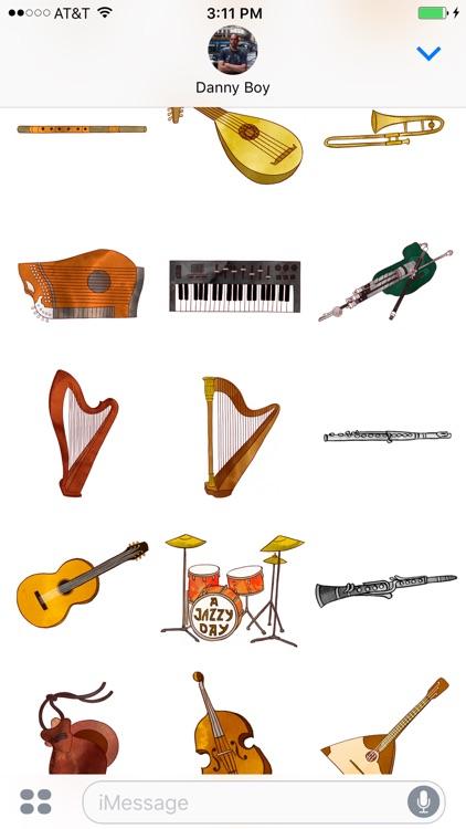 Jazzy Musical Instruments - World Music Stickers screenshot-3