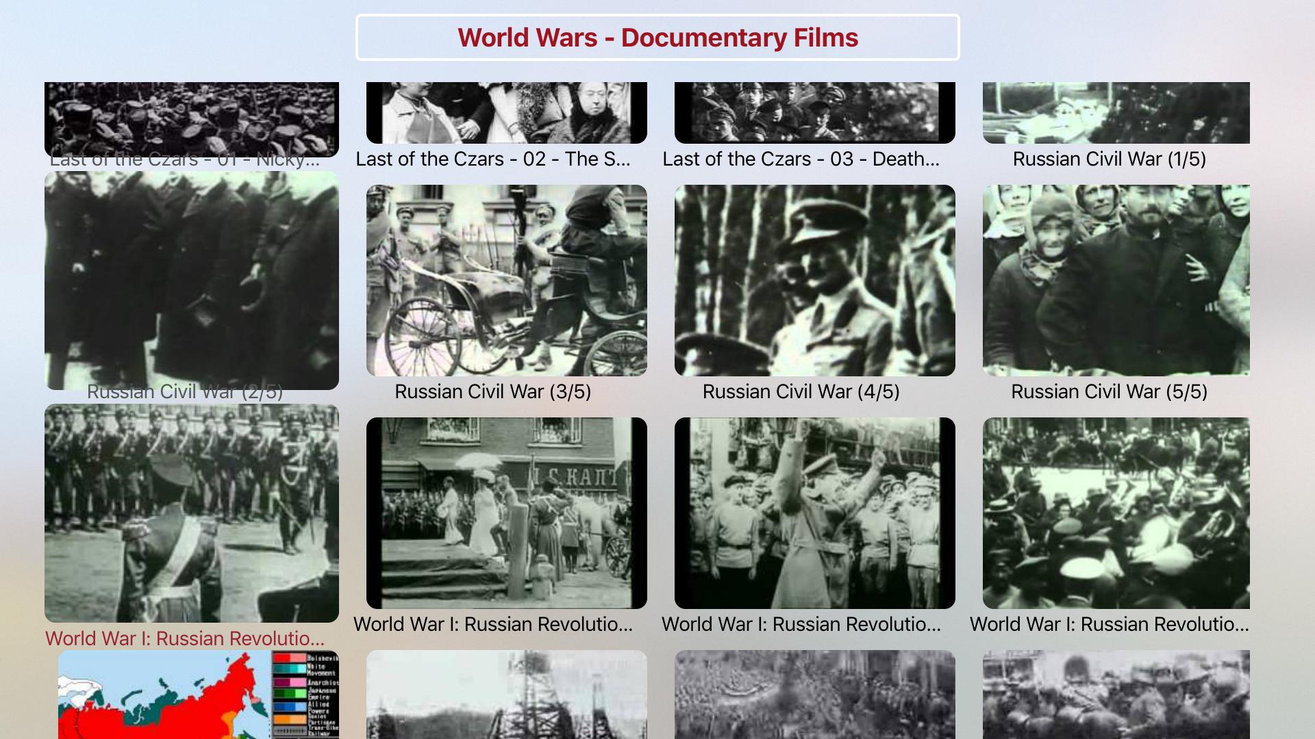 World Wars Documentary Films screenshot 3