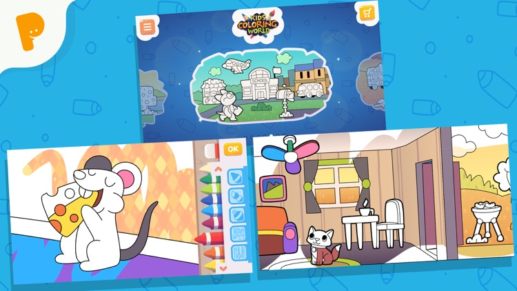 Papumba Kids Coloring World screenshot-4