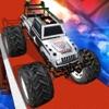 Police Monster Truck Wheelies - Monster Truck Race