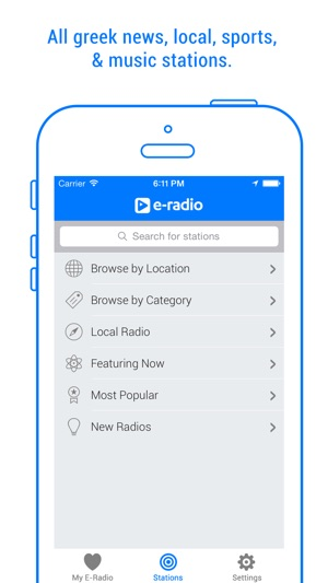 E-Radio - Tunein and stream music, sports, news on the App Store