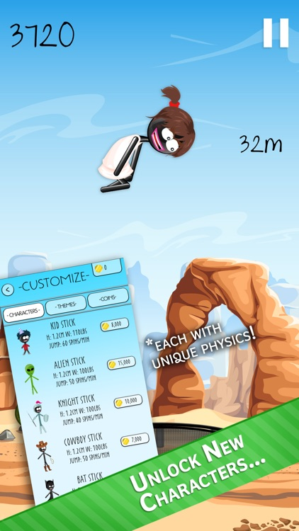 Stickman Trampoline PRO - Extreme Flip Action! screenshot-2