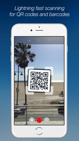 qr code reader iphone scan qr code barcode reader on the app 5911