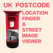 UK Postcode's Location and Location's Post code