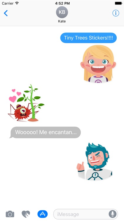 Tiny Trees Stickers for iMessage screenshot-1