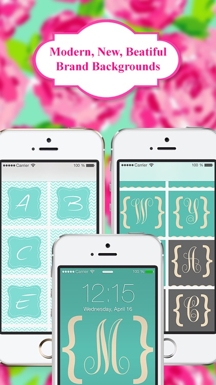 Monogram App - Wallpaper & Backgrounds for iPhone