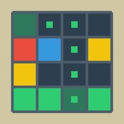 Move Connect Match 4 Squares logic puzzle 2016