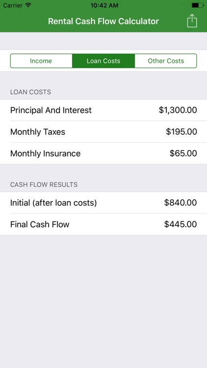 Rental Cash Flow Calculator