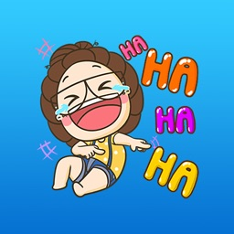 The Funny Girl Expression Stickers