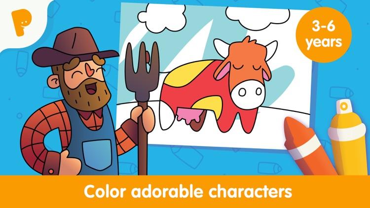 Papumba Kids Coloring World screenshot-0