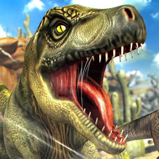 Jurassic Run - The Dinosaur Racing Simulator Game Icon