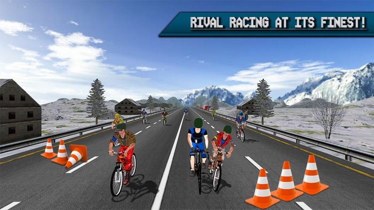 Extreme Highway Bike Racing 2017 - Bicycle Race 3D screenshot-3