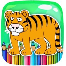 Zoo Animal Coloring Page Game Educational by Mayurachat Tuytemwong