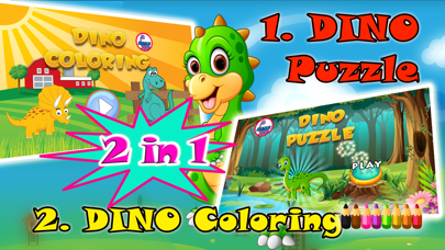 Dinosaurs Puzzles Coloring Books For Kids