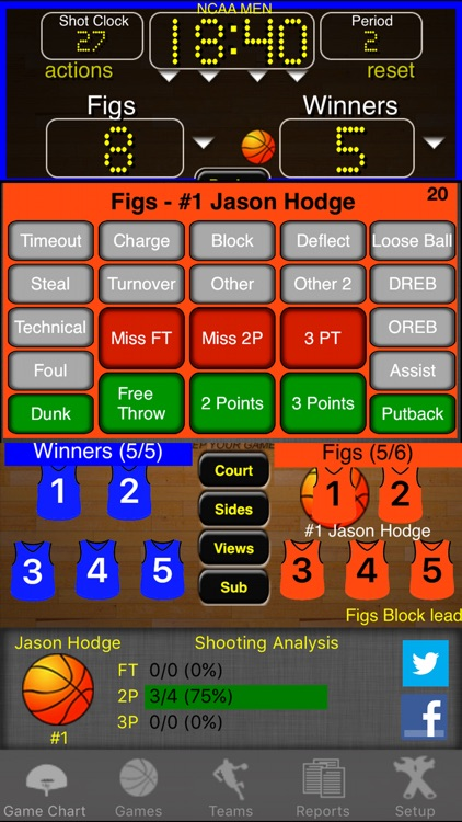 Ballers Basketball Stats screenshot-1