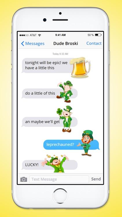St Patricks Day Leprechaun and Beer Sticker Pack