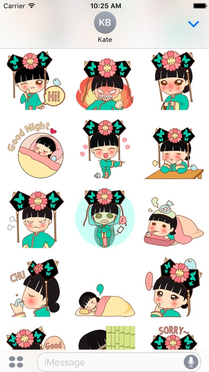 HuaYu, the chinese princess for iMessage Sticker