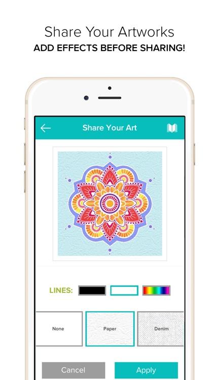 Coloring Book for Adults - Color Mandala screenshot-3