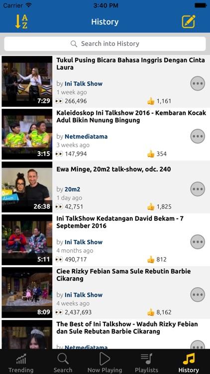 Tubify Trending Video Music Player screenshot-3