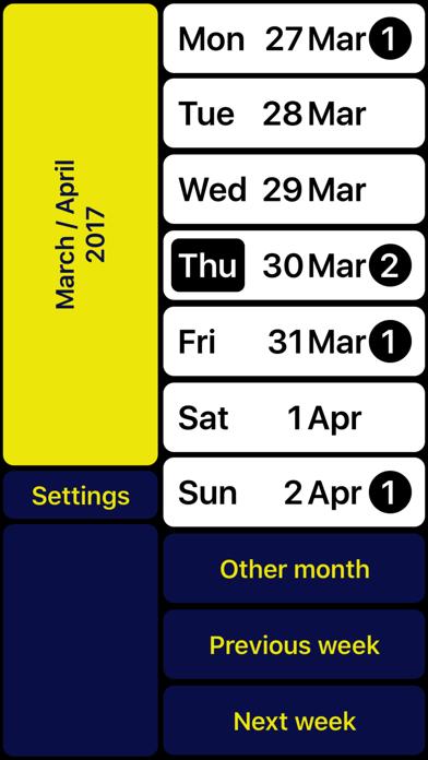 VO Calendar iPhone