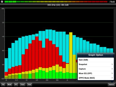 PocketRTA HD - Spectrum Analyzer screenshot 4