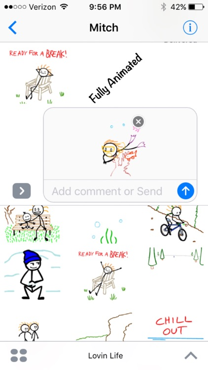 Stick Texting - Lovin Life Stickers for iMessage