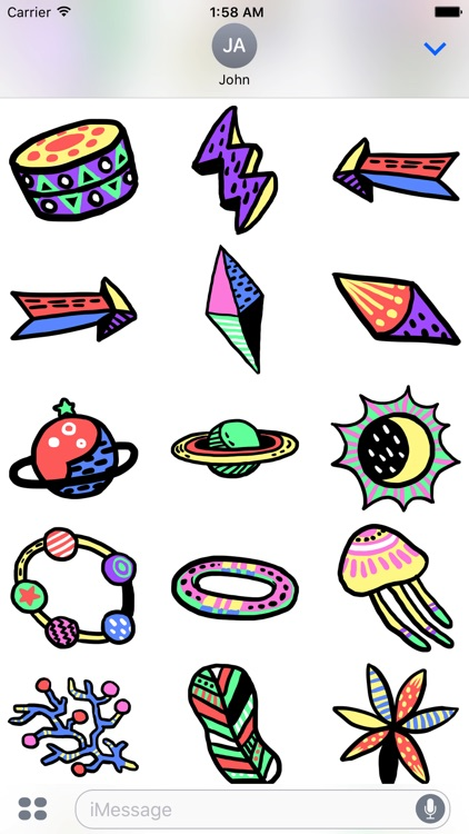 Galaxy - Space Objects Doodle Stickers screenshot-3
