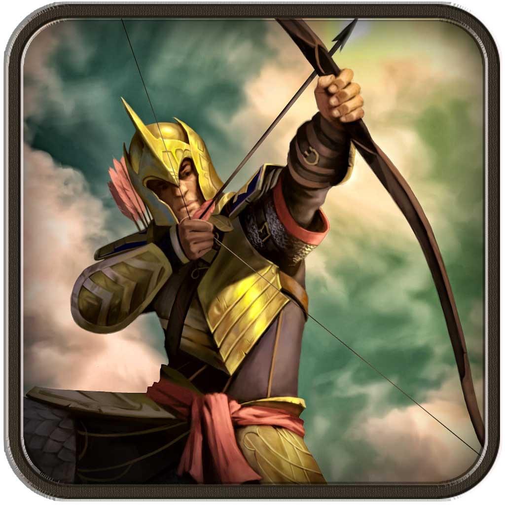 Archery bow boscage: shoot arrow against enemy hack