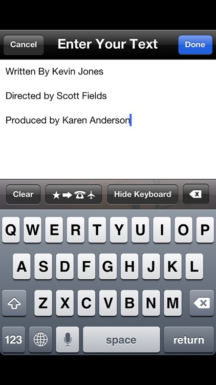 Scrolling Credits - Use with iMovie to Scroll Text