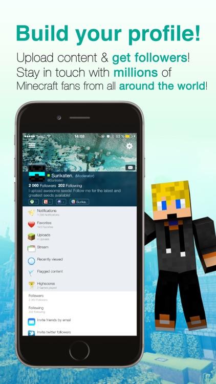 Seeds Lite For Minecraft - Server, Skin, Community screenshot-3