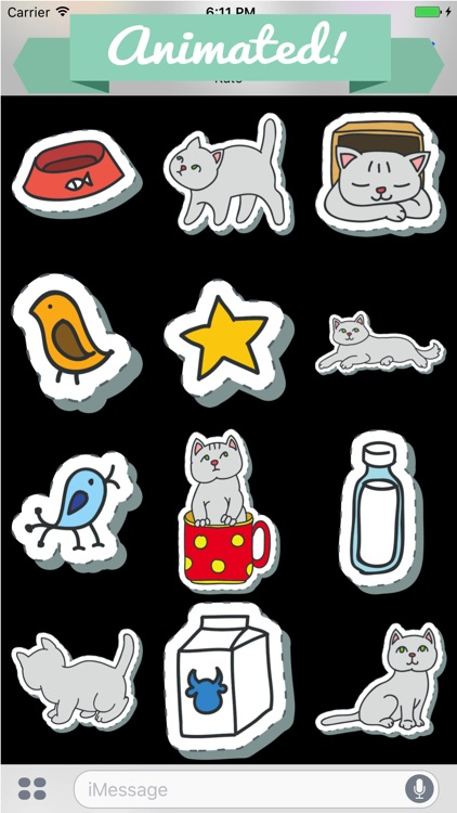 Animated Cat Lovers Sticker Pack